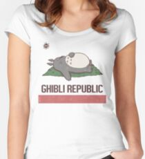 Ghibli Republic Women's Fitted Scoop T-Shirt