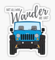 Wander (blue) Sticker