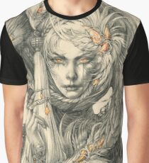 Lady with hawks and amber jewelry Graphic T-Shirt