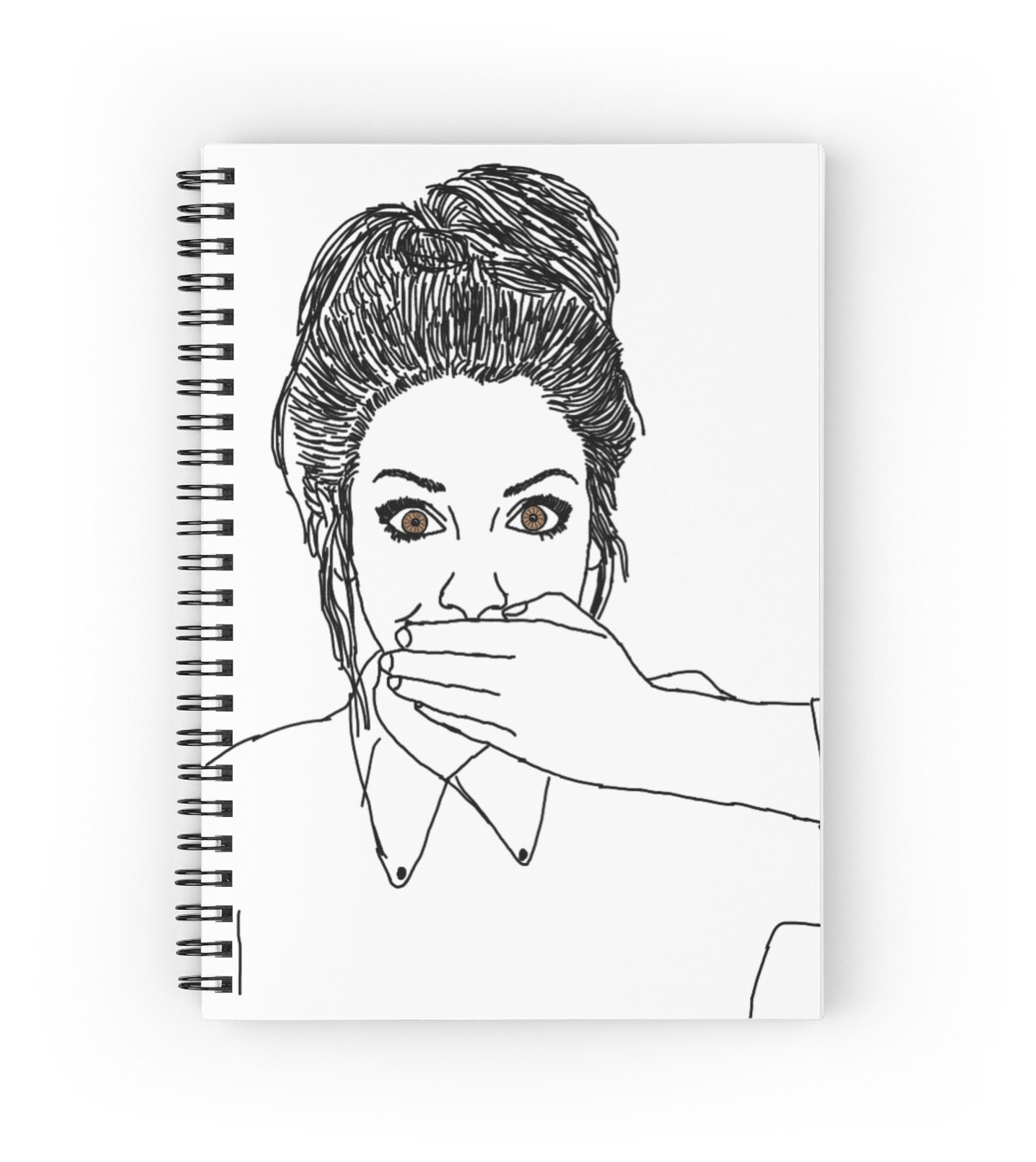 Zoella Line Drawing : Quot zoella outline spiral notebooks by eviedaisymay redbubble