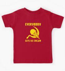 Everybody Gets Ice Cream - Yellow Kids T-Shirt