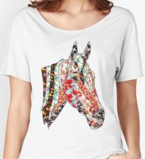 Horse Patchwork cool style  Women's Relaxed Fit T-Shirt