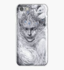 Fairy lady with white peacocks. iPhone Case/Skin