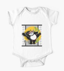 Martial Arts Panda - White One Piece - Short Sleeve
