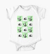 Pandas Checker - Green Kids Clothes