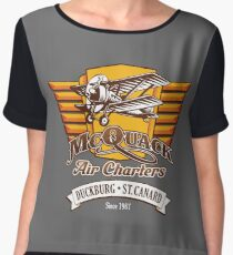 McQuack Air Charters Chiffon Top