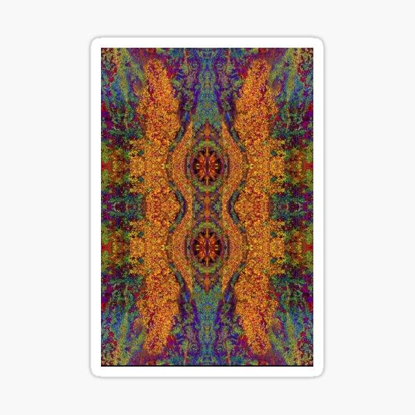 Lithoviso Steindesign: Muster aus selbstgefundenen Edelstein: Jaspis #3 Sticker