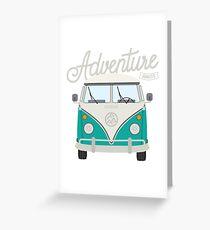 Adventure Awaits (teal) Greeting Card