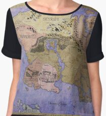 Elders Scrolls map in Ink - COLOR Women's Chiffon Top