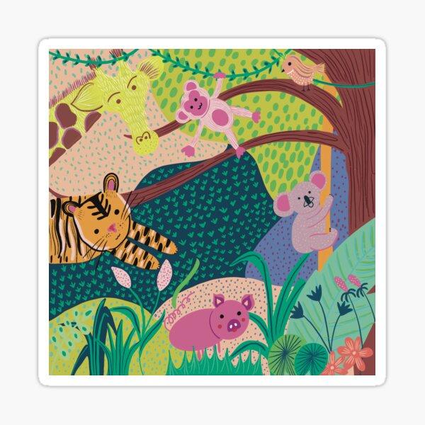 Happy Jungle Sticker
