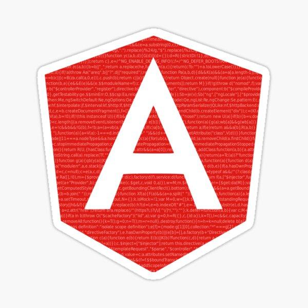 AngularJS with code background Sticker