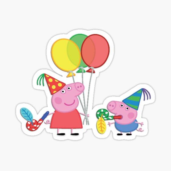 Cerdito peppa cumpleaños Pegatina