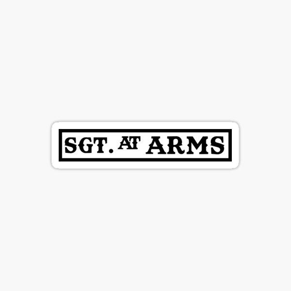 SOA SGT chez Arms Patch Sticker