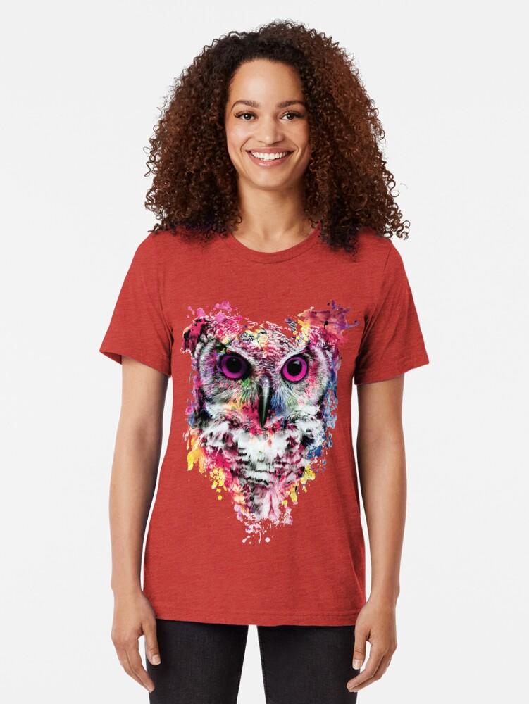 Alternate view of Owl Tri-blend T-Shirt