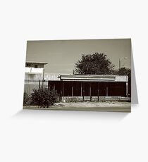Monochrome Vacant Building Greeting Card