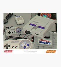 SUPER NINTENDO ENTERTAINMENT SYSTEM Photographic Print