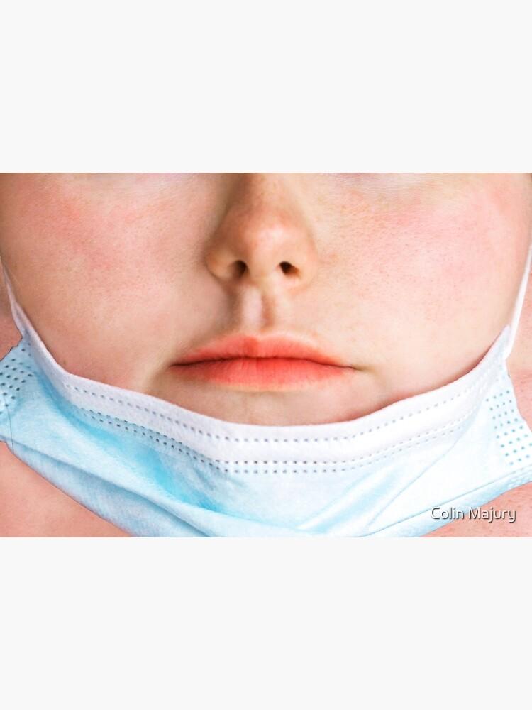 Badly worn medical mask - Girl by cmphotographs