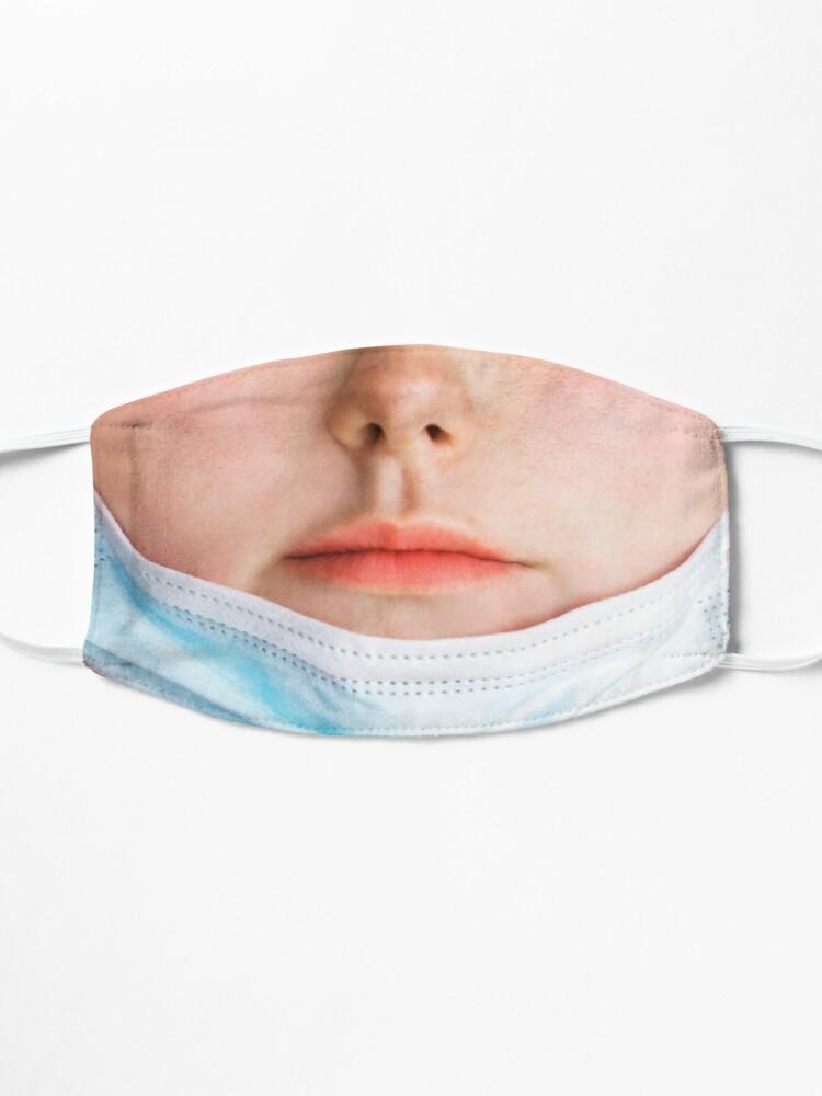Alternate view of Badly worn medical mask - Girl Mask
