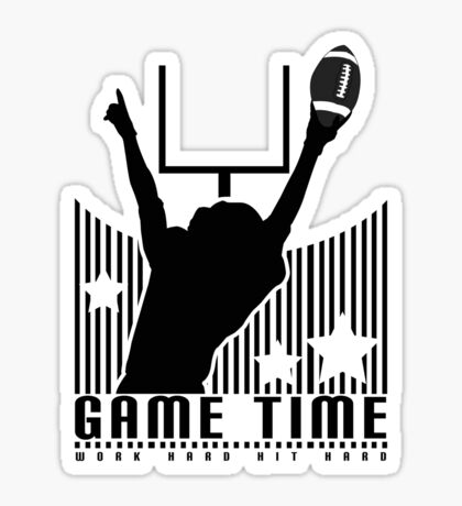 Game Time - Football (Green) Sticker