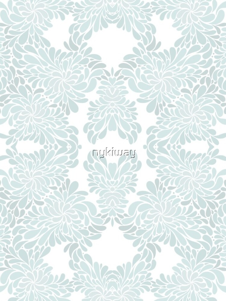 Baby Blue Abstact Floral Pattern by nykiway