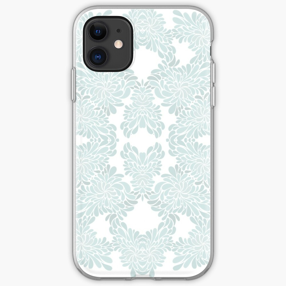 Baby Blue Abstact Floral Pattern iPhone Case & Cover