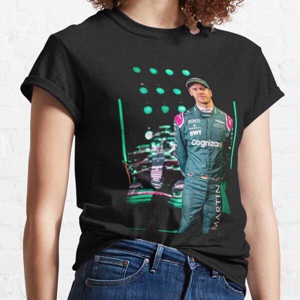 sebastian vettel aston martin, Sebastian Vettel, Racing, Sebastian, Motorsport, Formula One, vettel 2021, Grand Prix, F 1 2021, 5, aston martin f1 2021, vettel f1 aston martin Classic T-Shirt