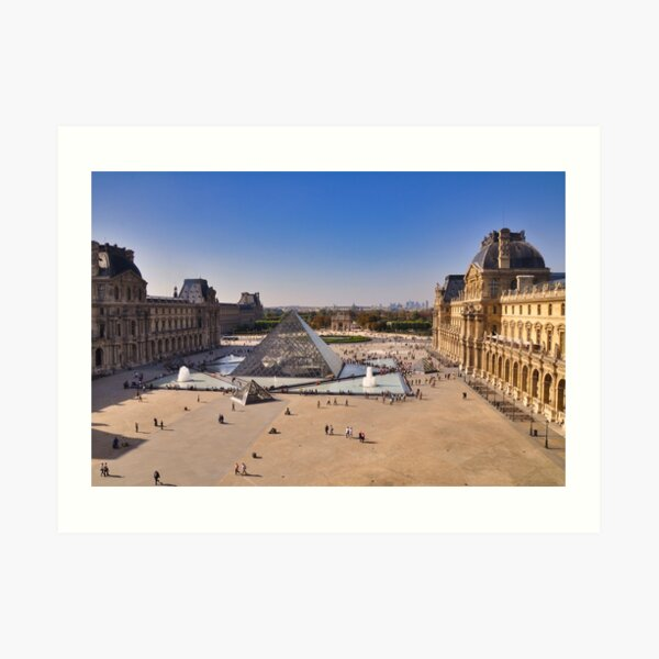 View from the Louvre, Paris Art Print