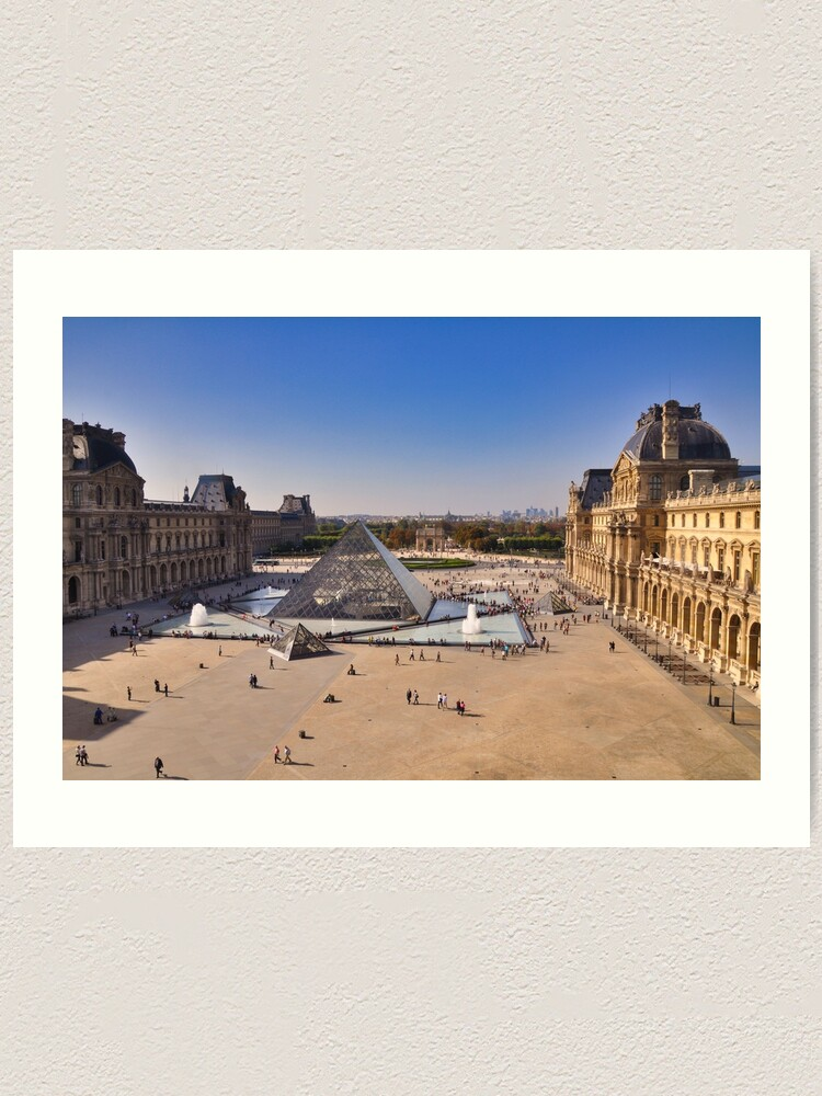 Alternate view of View from the Louvre, Paris Art Print