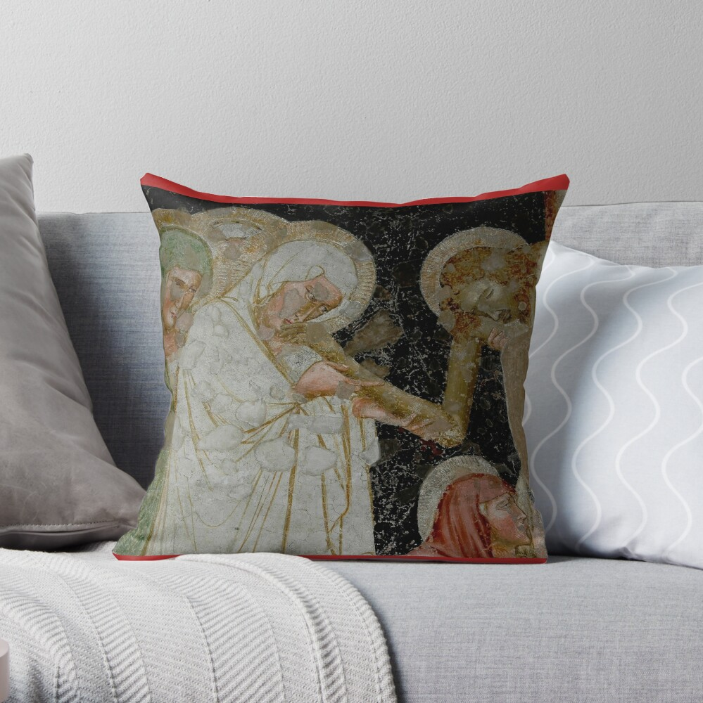 Deposition of Christ or Descent from the Cross Throw Pillow