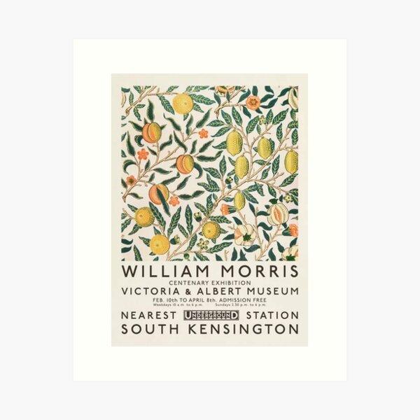 Exposición de arte de William Morris Lámina artística