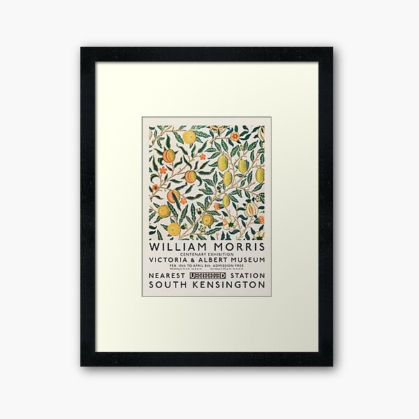 William Morris Art Exhibition Framed Art Print