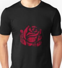 red rose stamp Unisex T-Shirt