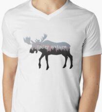 Enjoy nature.  Men's V-Neck T-Shirt