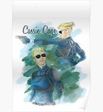 cassie cage -white bkg- Poster