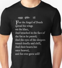 Archer - Pam's tattoo  (Lord Byron poem) - white text Unisex T-Shirt