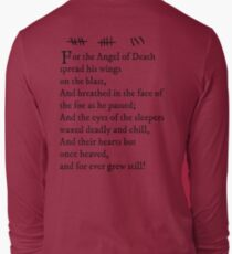 Archer - Pam's tattoo (Lord Byron poem) - black text Long Sleeve T-Shirt