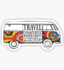 Tie Dye Bus Sticker