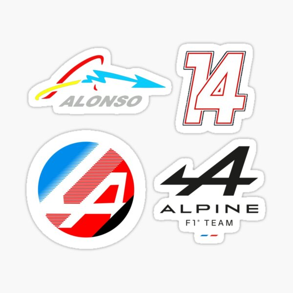 2021 Alpine F1 Team Fernando Alonso personnalisé Sticker