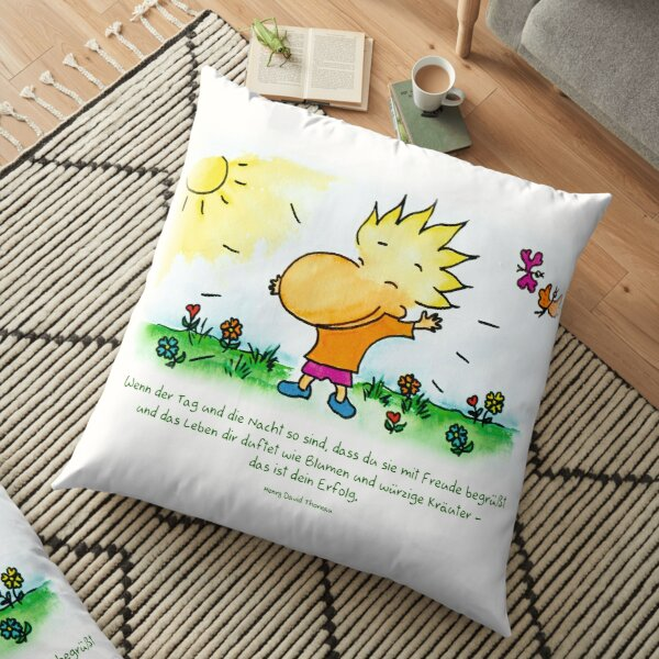 Life smells like flowers and aromatic herbs Floor Pillow