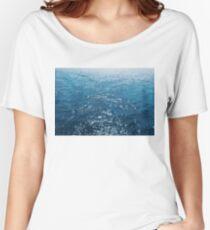 Wavy Blue Sea Water Twinkling under Summer Sun Women's Relaxed Fit T-Shirt
