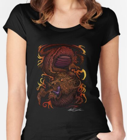 Dragon (Signature Design) Women's Fitted Scoop T-Shirt