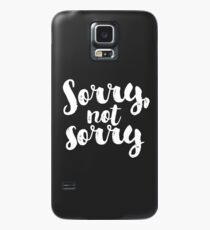 Sorry, Not Sorry - White Case/Skin for Samsung Galaxy