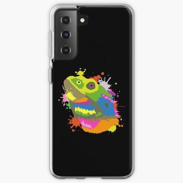 Bearded Dragon Mom Dad I Funny Beardy Gift Colorful Head Samsung Galaxy Soft Case