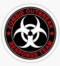 Zombie Response Team Bio Hazard Sticker
