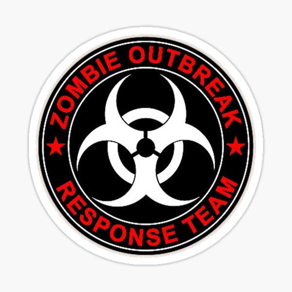 Zombie Response Team Bio Danger Sticker