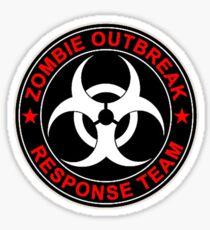Walking Zombie Response Team Logo Walkers Dead Sticker