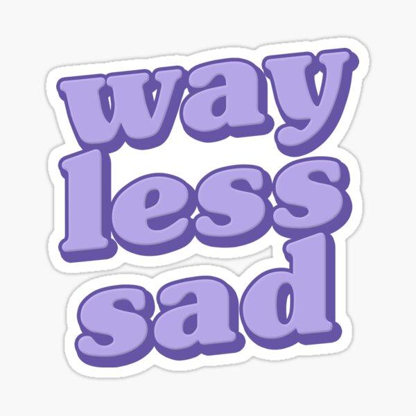 AJR Way Less Sad Purple Sticker