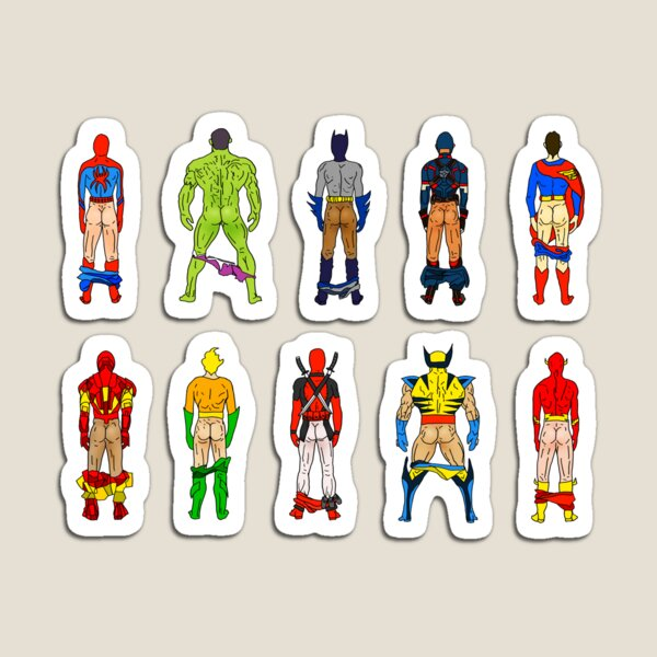 Superhero Butts Magnet