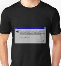 Nihilism Vaporwave Error Message  Unisex T-Shirt
