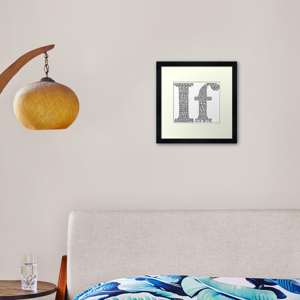 If poem | Black Framed Art Print